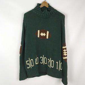 Vintage | football mock neck sweater